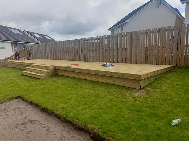Large Timber Decking Project