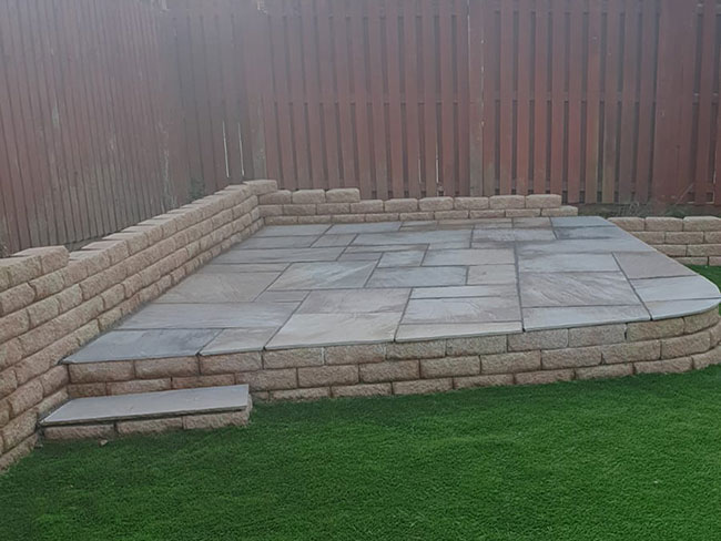 This landscaping/patio project completed in November 2020