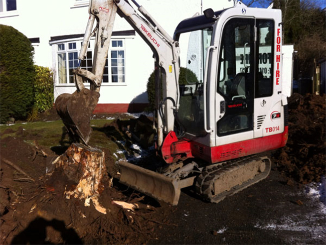 Man with digger hire