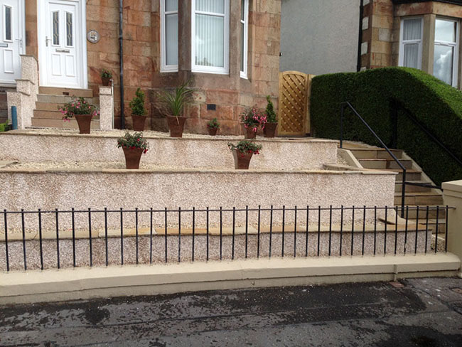 Decorative garden walls � retaining walls Glasgow